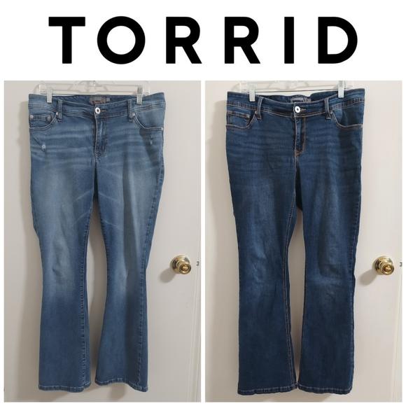 SOLD (2) Torrid Luxe Slim Bootcut Jeans 12R